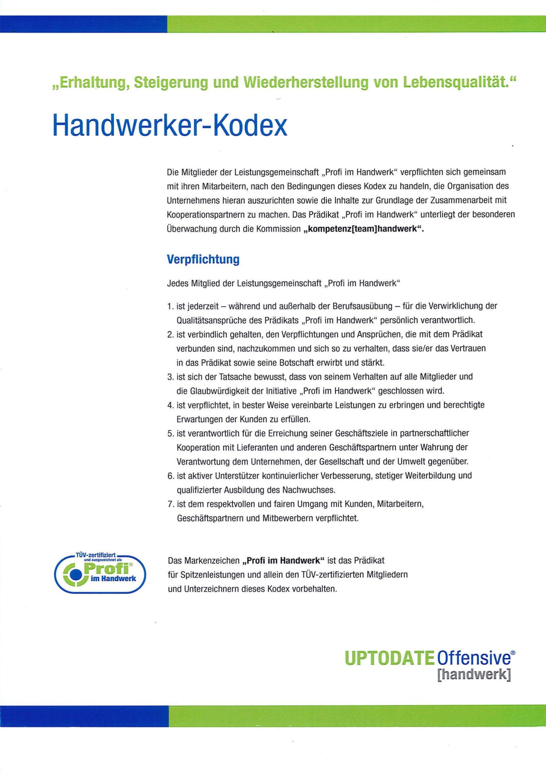 Handwerk Kodex - Eurotec